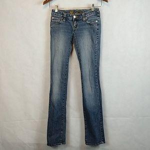 Wet seal size 3 blue jeans